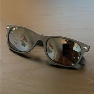 Polarized matte black Rayban sunglasses